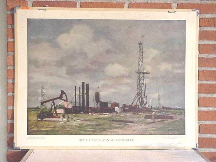 Wolters Schoolplaat - Het olieveld Schonenbeek
