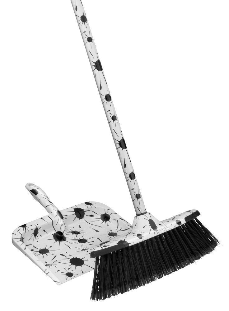 2-Piece Splash Broom and Dustpan Set