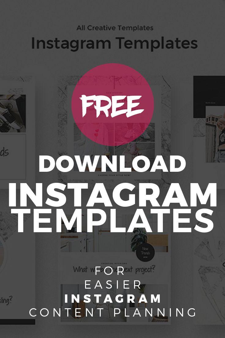 Free Instagram Templates for Easier Instagram Content Planning ...