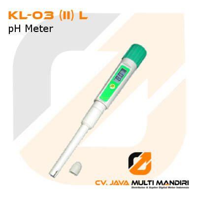 pH Meter dengan Akurasi Tinggi Seri KL-03 (II) L