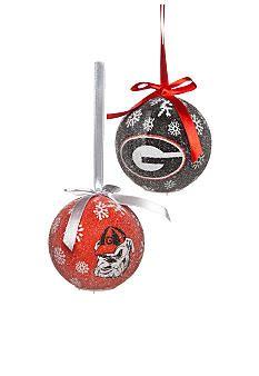 Evergreen Georgia Bulldogs LED Set Of 6 Ornaments | Goooooooooo ...