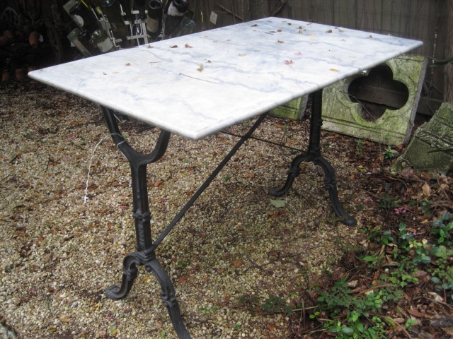 French Marble Top Bistro Table Circa Antiques Vintage Furniture Accessories Pinterest Marbles And