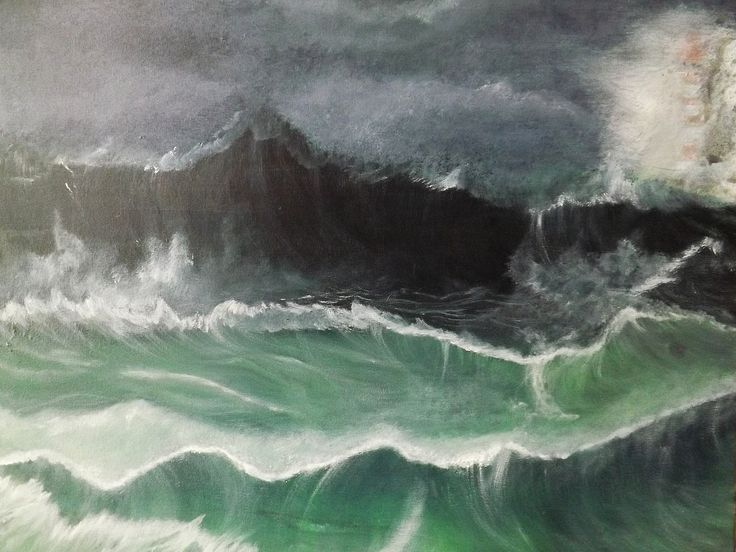 """Sturm und drang"", acrylic on canvas, 50x60"