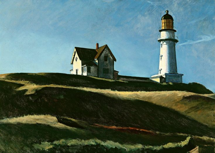 Cape Elizabeth Light in Cape Elizabeth, ME by Edward Hopper