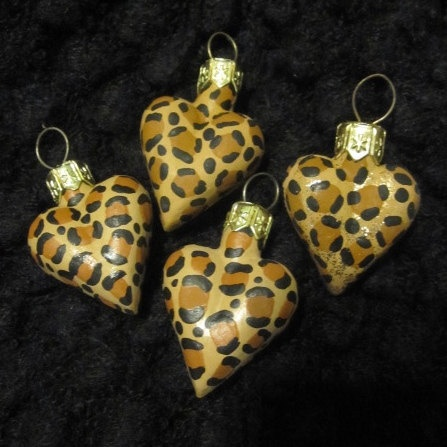 leopard print ornaments