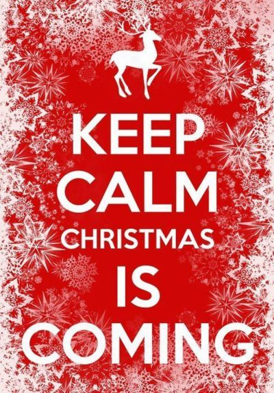 Keep calm Christmas is coming! Avoid holiday stress with a little Pinterest holiday inspiration to keep you smiling your way through the season.  Tis the season.... to smile!