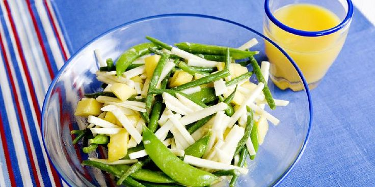 Salat med sellerirot og mango