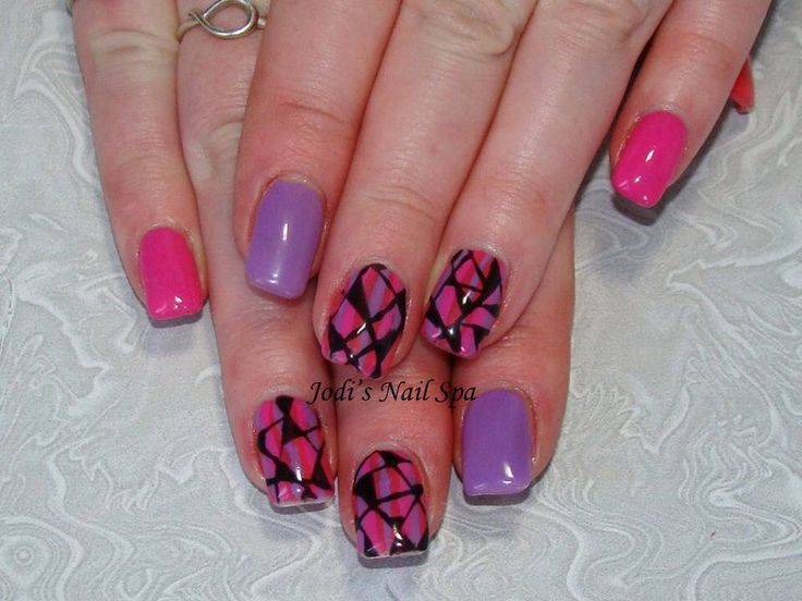 Shellac with funky art