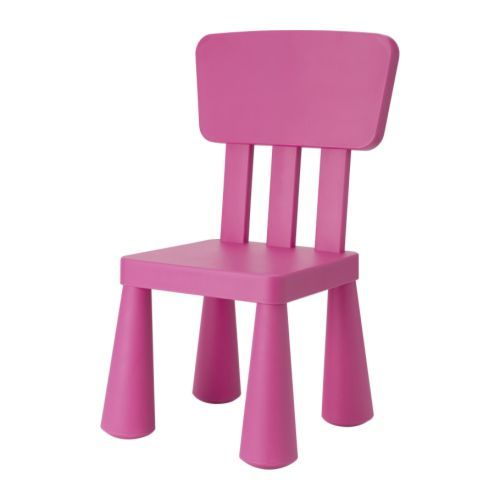 great lil Mammut chair from Ikea $14.99 kids can sit on it indoors or outdoors. fun!