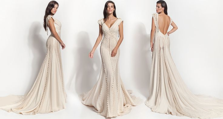 Atelier Zolotas-Arathea...Simple byt beautiful. Love the details. Change the fabric to fit the wedding theme.