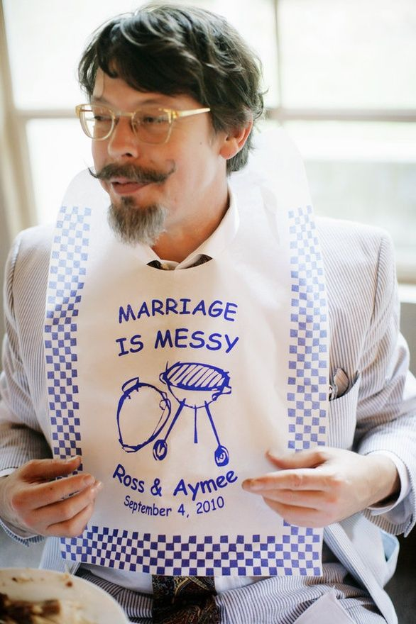 """Loved this so much we made """"Marriage is Messy"""" wet wipes for our Wedding Welcome Dinner BBQ. Now sharing on Etsy! https://www.etsy.com/listing/162195988/marriage-is-messy-wet-wipes"""