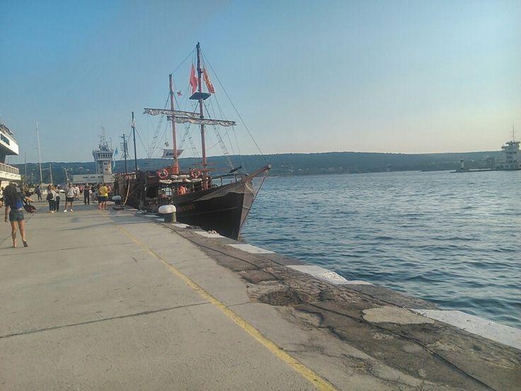On the sea port