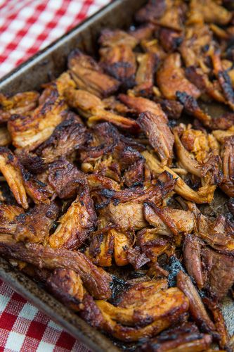 Carnitas Ingredients  1 (3-4 lb) pork butt or shoulder, fat trimmed and cut into 2 inch pieces  1 teaspoon salt  1 tablespoon oil  2 cups water (or beer)  3/4 cup orange juice  1/4 cup lime juice  4 cloves garlic, chopped  1 tablespoon chili powder  1 teaspoon cumin  1 teaspoon oregano  1/2 teaspoon pepper  Directions