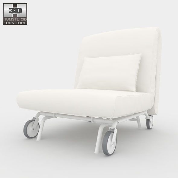 Ikea Ps Lovas Chair Bed 3d Model Chair Bed Ikea Ps Ikea