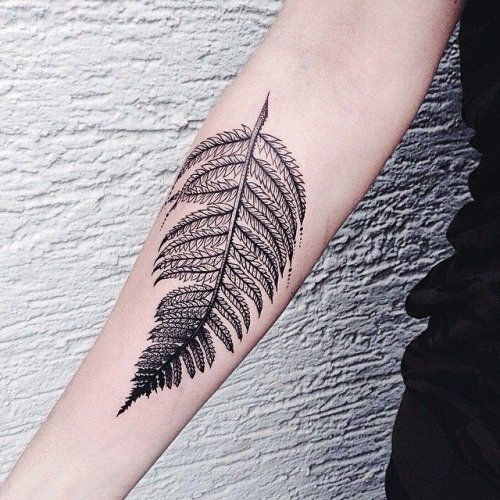 Fern tattoo by Sink Ink http://blog.tattoodo.com/2015/09/26-plant-tattoos-grow-skin/