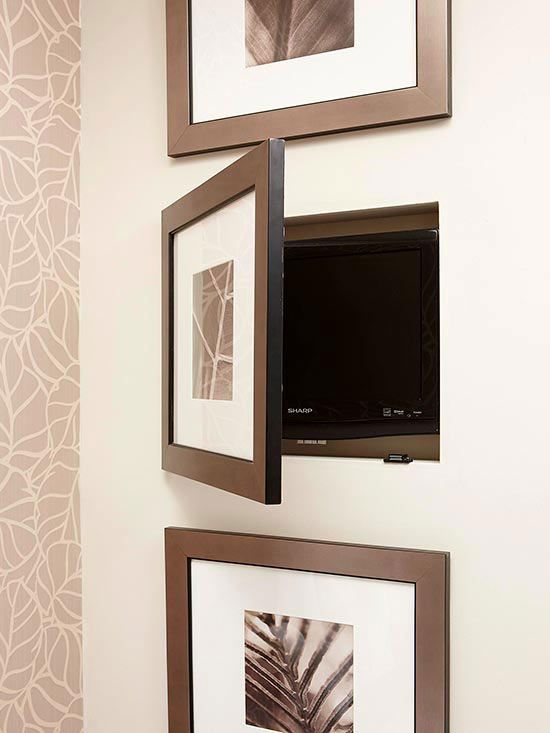 Nifty Niches - I may not want to stare at the microwave all the time in a camper. A way to display art and add a little charm.