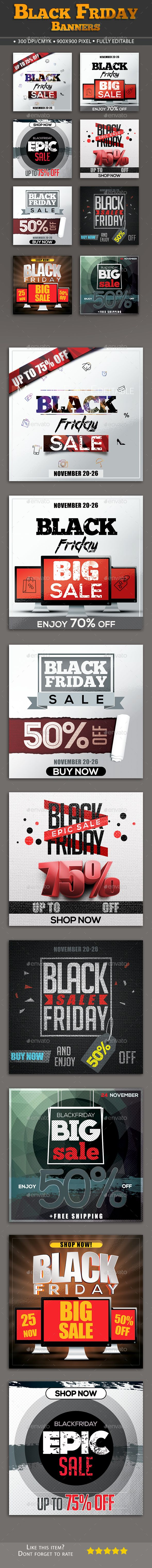 Black Friday Banners Templates PSD