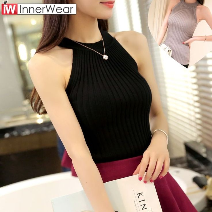 Halter Top Cropped Debardeur Femme Knitted Blouses Cotton Vest Womens  #buy  #Halter #Top #Cropped #Debardeur #Femme #Knitted #Blouses #Cotton #Vest #Womens #onlineshopping #sexydress