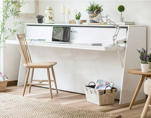 Las 25 mejores ideas sobre escritorios blancos en for Cama oficina