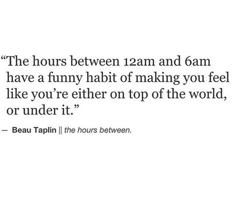 The hrs between 12am-6am...