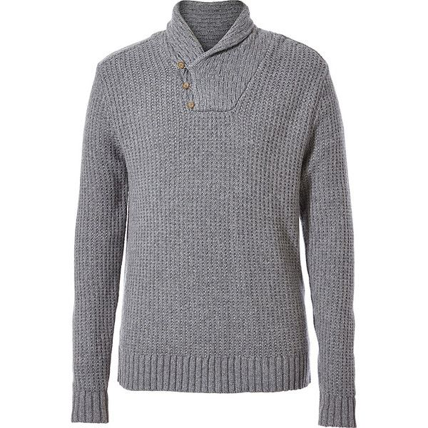 Royal Robbins Mens Fishermans Shawl Sweater - S - Pewter - Men's... ($72) ❤ liked on Polyvore featuring men's fashion, men's clothing, men's sweaters, grey, mens thick sweaters, mens collared sweater, mens gray sweater, mens shawl collar sweater and mens grey sweater