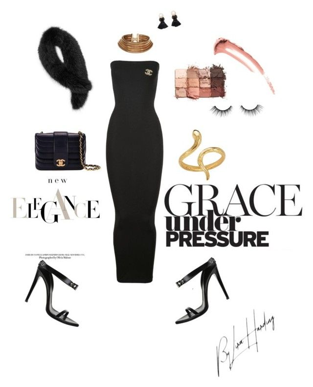"""""""Cocktail hour"""" by liralahore on Polyvore featuring Wolford, Chanel, Madina Visconti di Modrone, New Look, Andrew Marc, Violeta by Mango and tarte"""