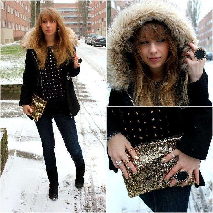 NWT ZARA Black DUFFLE COAT WITH FAUX FUR HOOD Jacket Size S Ref.1255/015 #ZARA #DuffleCoat #Casual