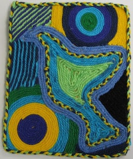 Yarn painting.. could be tedious, but very pretty.