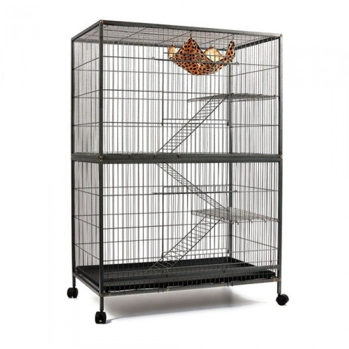 Multi-Level Ferret Cage with Wheels