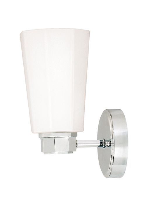 Polished Chrome Bathroom Wall Lights IP Rated Splash Proof Fittings Available In Brass Satin Silver