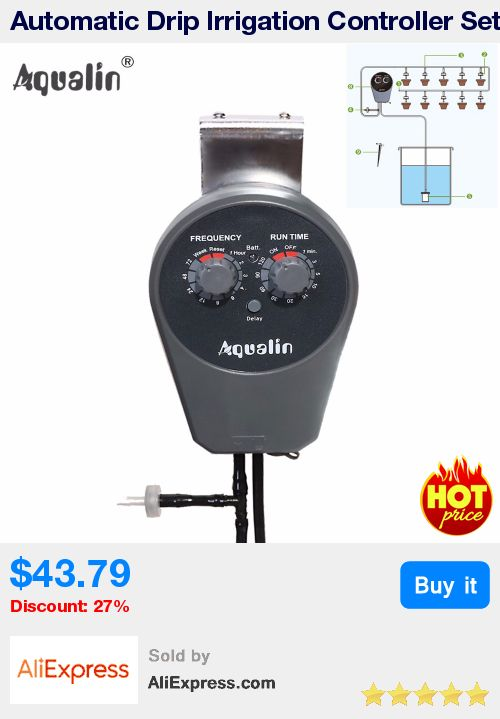 Automatic Drip Irrigation Controller Set Garden Water Timer Watering Kit with Built-in High Quality Membrane Pump #22077 * Pub Date: 19:33 Jul 10 2017