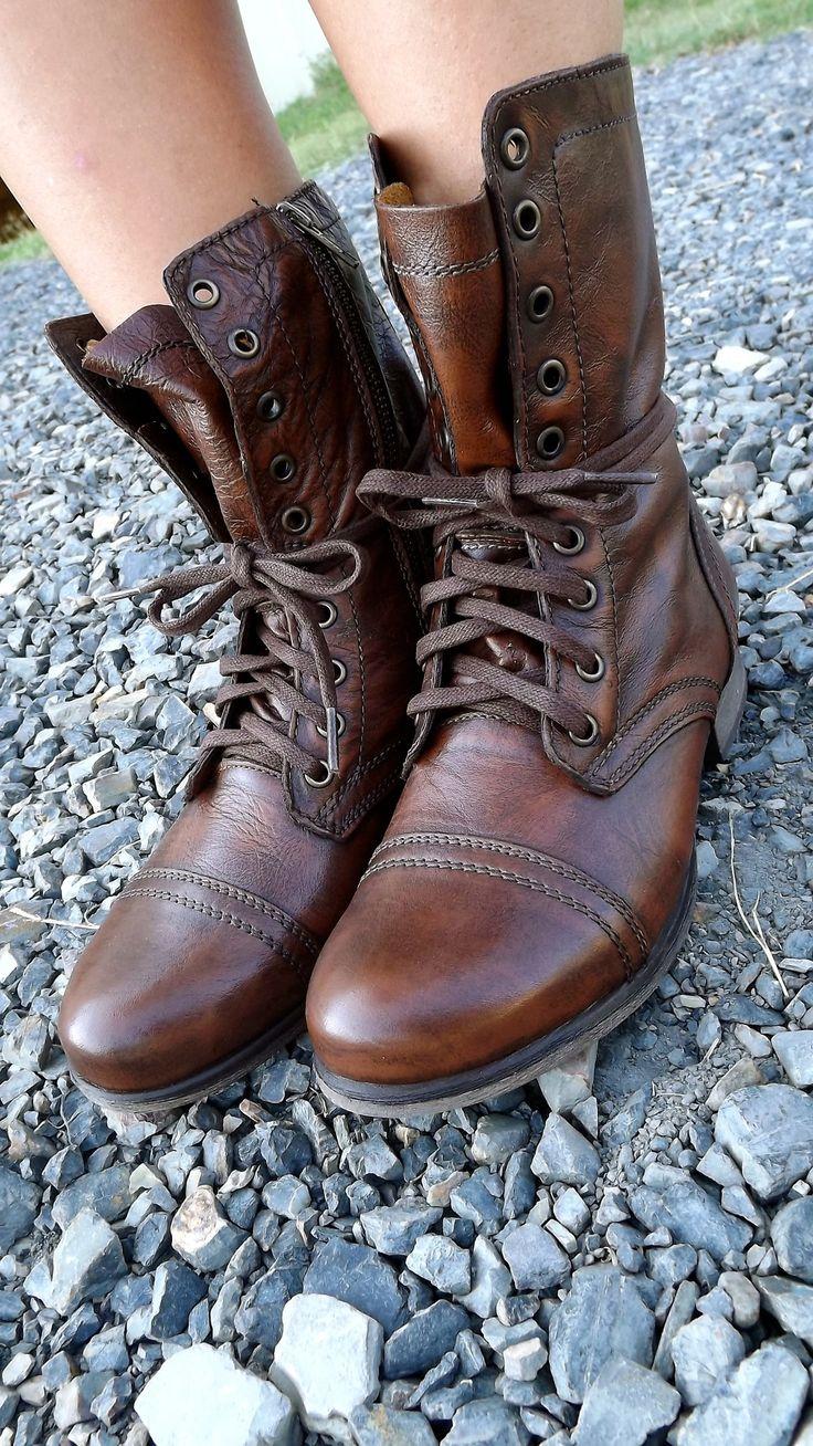 Rocker-Chic Combat boots -