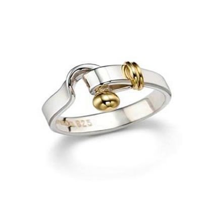 Tiffany And Co Ring Bolt Silver And Gold 003