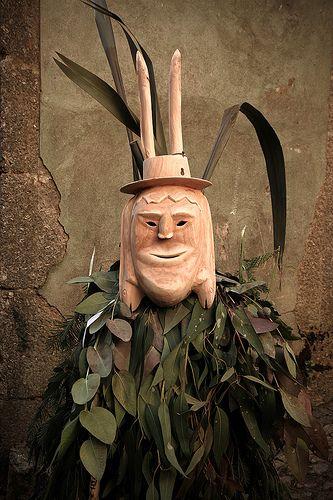 Máscaras del  carnaval de Lazarím - Portugal
