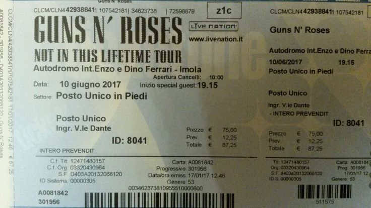 Guns and Roses - Not in a Lifetime Tour 2017 - 10 Luglio - Imola