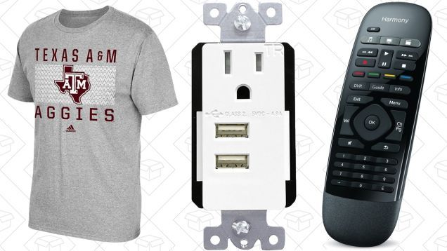 Todays Best Deals: College Apparel Logitech Harmony Nike Clearance and More