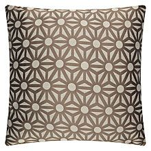 Buy John Lewis Starburst Cushion, Natural / Mocha Online at johnlewis.com