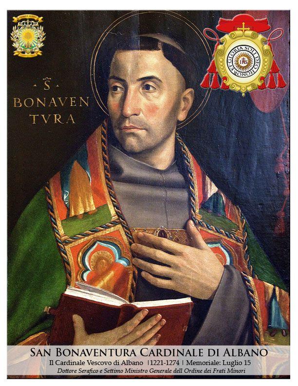 "SOLI DEO HONOR ET GLORIA (""To God alone be the honor and glory."") SAN BONAVENTURA DI BAGNOREGIO, O.F.M., CARDINALE DI ALBANO (St. Bonaventure of Bagnoregio, Order of Friars Minor, Cardinal of Albano) 1221-1274, Doctor of the Church, Dottore Serafico (Seraphic Doctor)  Designed by: Kendrick Ivan B. Panganiban Copyright: DOMVS AVREA | 2016"