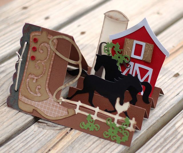 Paper Creations by Kristin: Western Horse Step Card