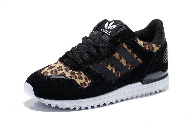 Adidas ZX 700 Running Shoes Women Black leopard print White