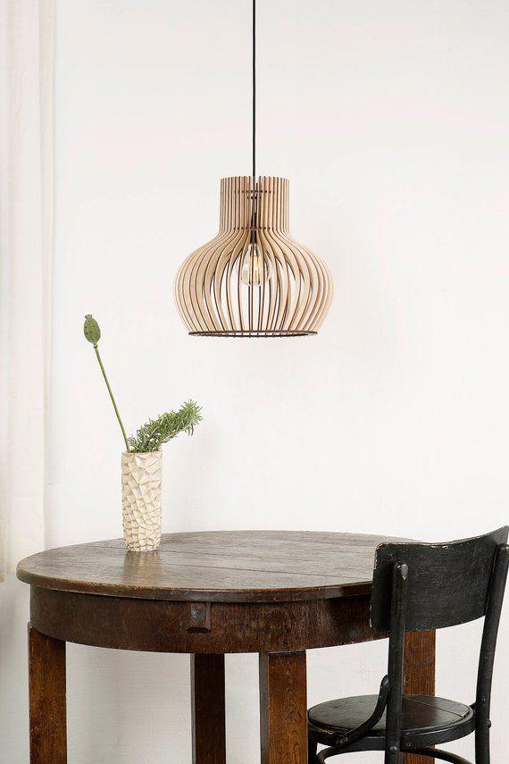 Holz Lampe Holzleiste Hangelampe Oval Holz Lampe Kuche Beleuchtung Esszimmer Lampe Lampe Holz Holz Lampenschirm Ovale Unique Lamps Lamp Wood Lamps
