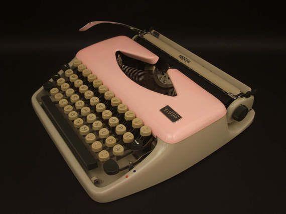 Pink Typewriter Triumph Tippa 1960s Vintage by SimplyModernGoods