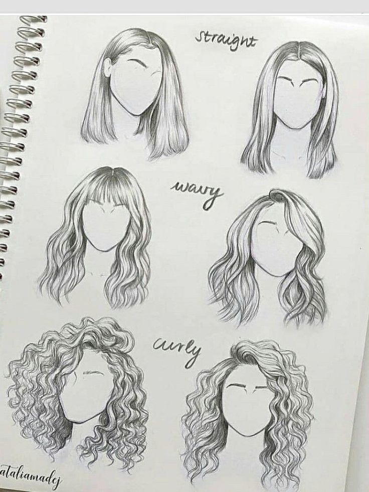 How to draw hair – Liv Silber