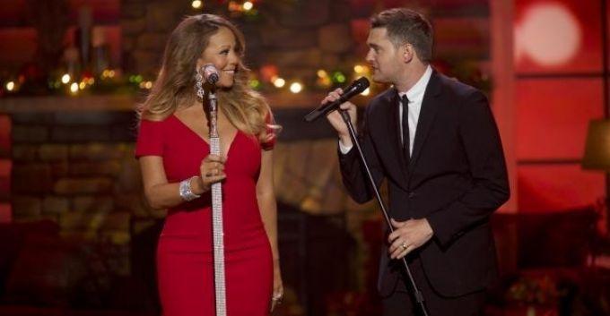 Mariah Carey canta villancicos junto a Michael Bublé