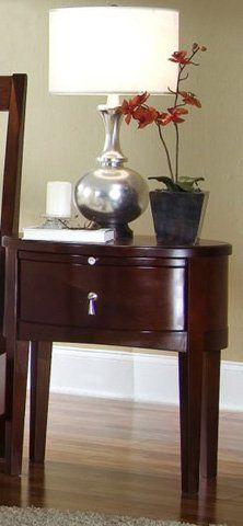 One Drawer Oval Nightstand Main Image