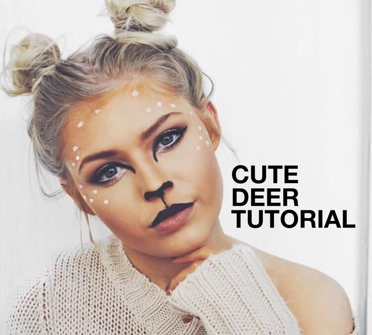 if you want a cute Halloween costume i love this deer tutorial I did on youtube inspired by bambi, space buns too! Enjoy! bambi halloween tutorial, deer makeup tutorial, deer makeup, bambi makeup