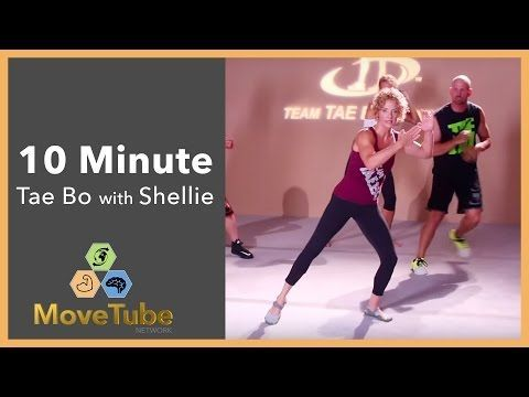 10 Minute Tae Bo Cardio Party with Shellie Blanks Cimarosti - YouTube