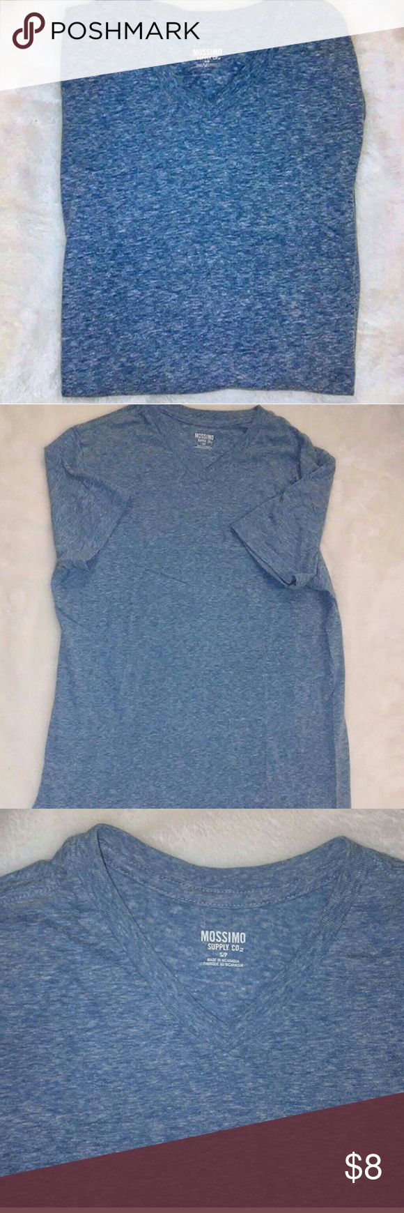 Mossimo V neck T shirt (Small) What can I say? It was nothing but good times. When I tried to impress that girl, with you gripping my upper frame, she clowned you for being too tight on me, said it looked like I stole a little kids t shirt from Toys r us. 4 hours later she ripped you off of me, and it went down, she was singing the blues and decided to put you on  her. Lol. Right. Good times. You and me had a good run, albeit short, but I send you off good shirt to inspire someone else.  Pre…