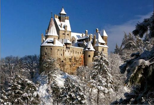 Bran, Dracula's famous castle , one of the many apres ski opportunities in Brasov county, Romania