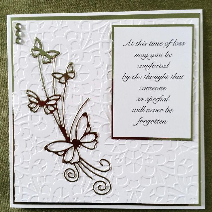 Silver & White Sympathy Card